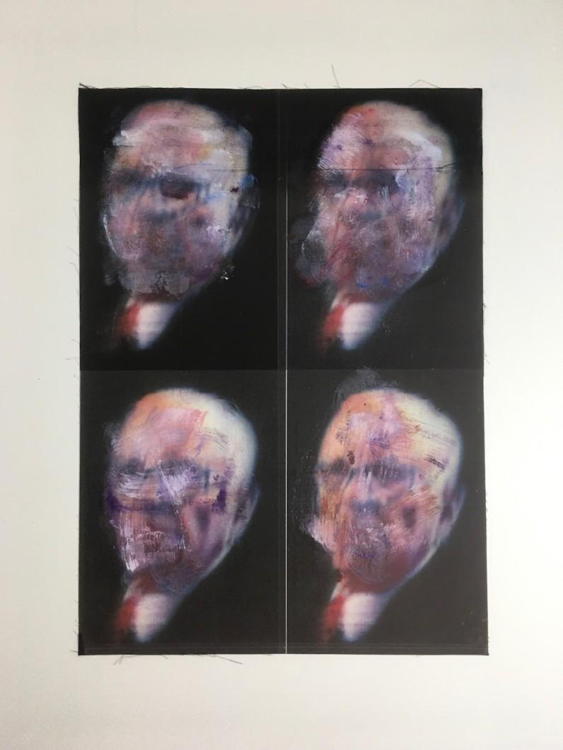 4 x Murdochs oil/inkjet/cotton 41x30cm