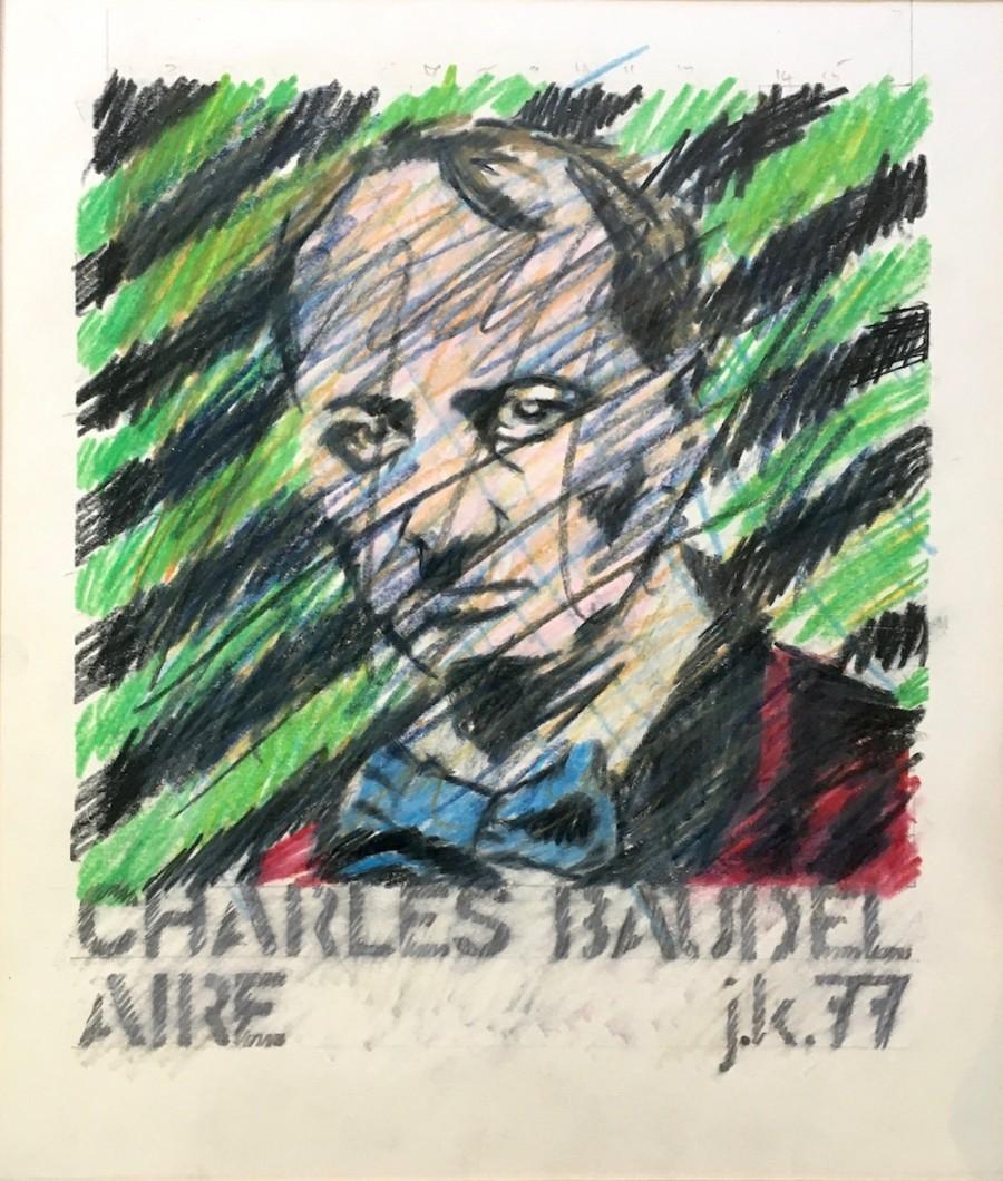 Charles Baudelaire 1977, crayon/paper