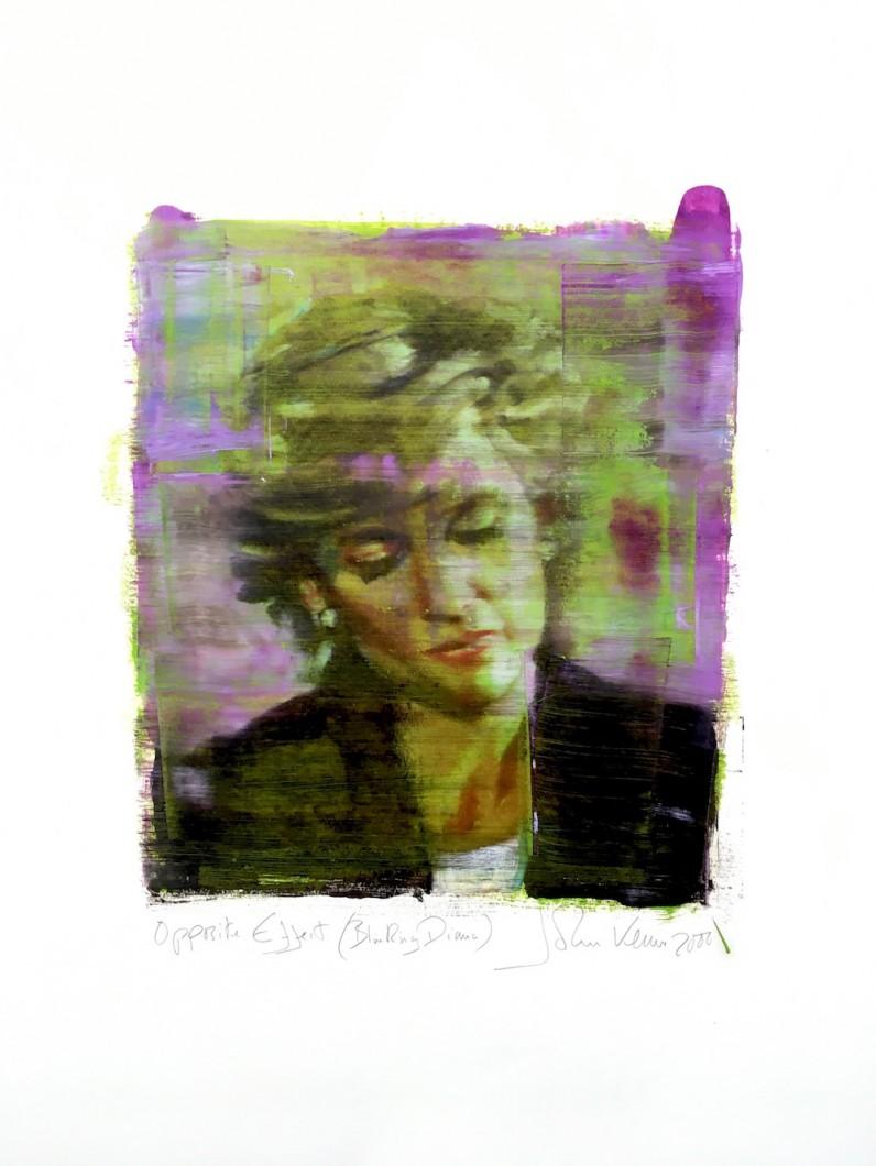 Opposite Effect (Blinking Diana) 2000 Monoprint 80x55cm