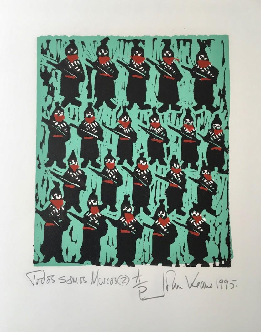 Todos Somos Marcos 1995 Linocut 40x33cm