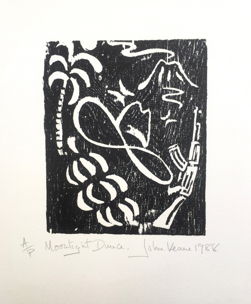 Moonlight Dance 1988 woodcut 34x28cm