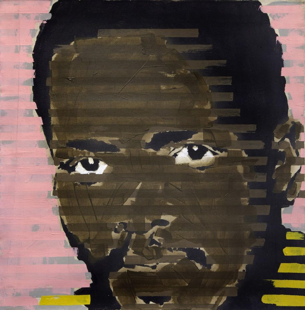 Steve Biko, 1978, PVA/canvas 60x60cm